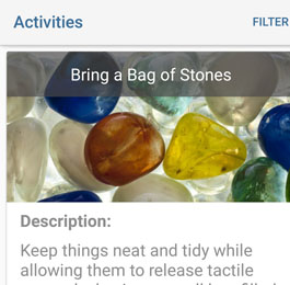 Activities, Bring a Bag of Stones