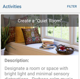 Activities, Quiet Room